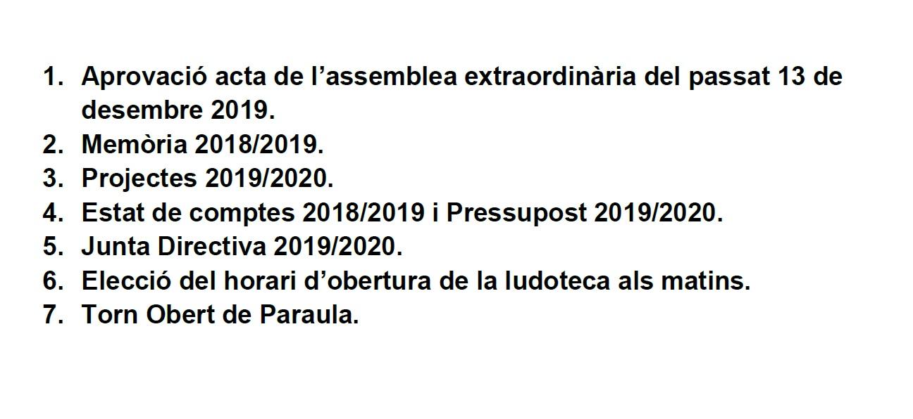 Assemblea ordinària i delegació de vot